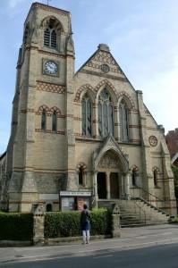 Kerkgebouw van de gemeente waar we op zondagmorgen heen gaan.